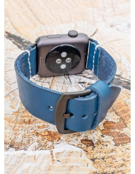 Handmade Apple Watch Band Blue