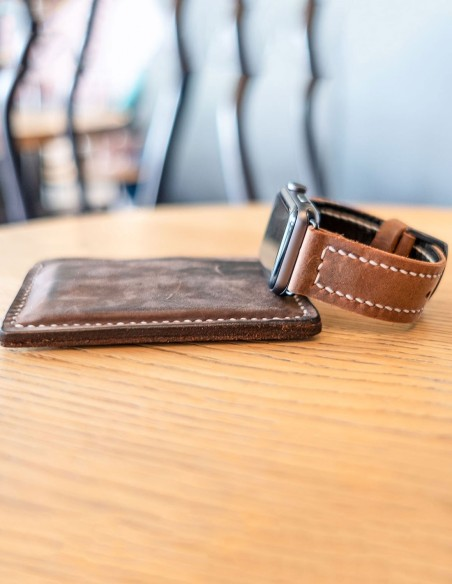 Handmade Leather Apple Watch Band 44mm, 42mm, 40mm, 38mm