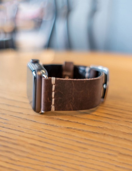 Handmade Leather Apple Watch Band Brown 42mm, 38mm