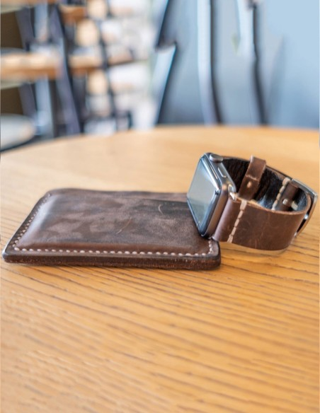 Handmade Leather Apple Watch Band Brown 44mm, 42mm, 40mm, 38mm