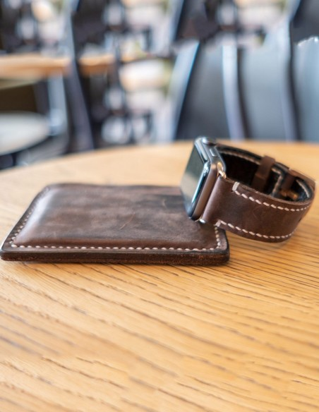 Leather Apple Watch Band Brown 44mm, 42mm, 40mm, 38mm