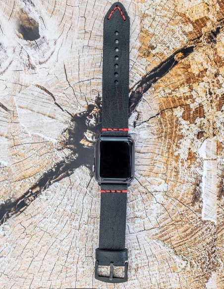 Leather Apple Watch Band, 42mm, 38mm - Hand Stitched Apple Watch Band