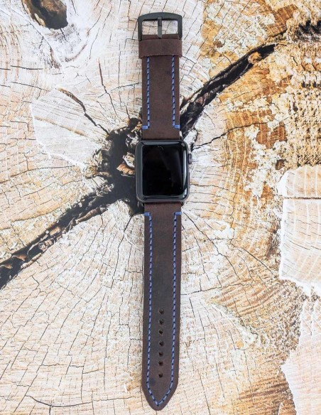 Hand Stitched Leather Apple Watch Band 44mm, 42mm, 40mm, 38mm