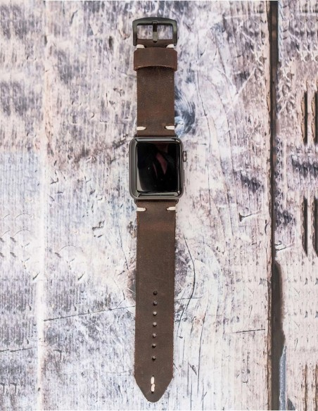 Apple Watch Band 42mm 38mm, Leather Hand Stitched Apple Watch Band