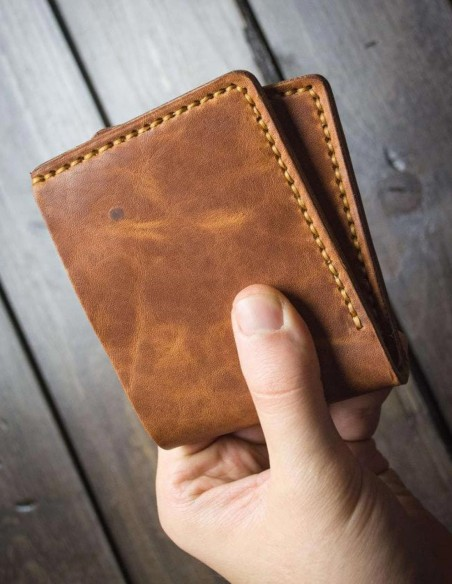 Handmade Leather Wallets Brown
