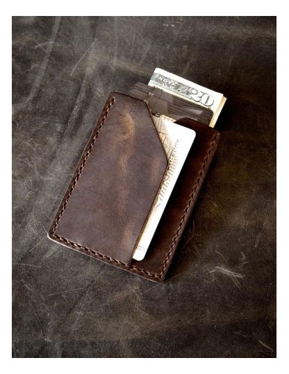 Handmade Leather Wallets Dark Brown