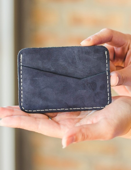 Handmade Leather Wallets Blue