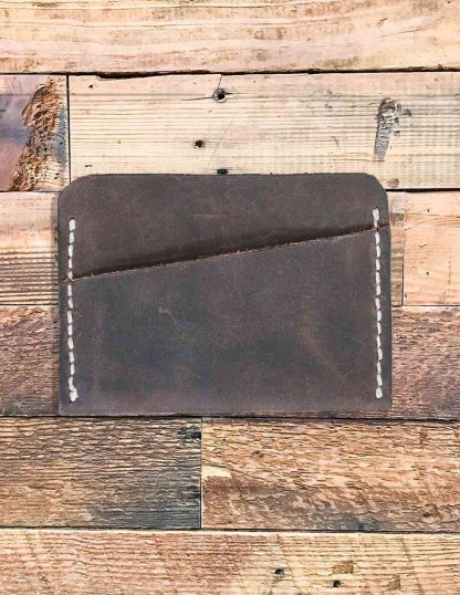 Horizontal Handmade Leather Cards Wallet