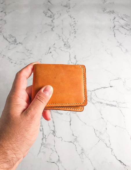 Hand Stitched Minimalist Leather Wallet