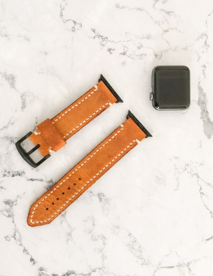 Handmade And Hand Stitched Leather Apple Watch Strap