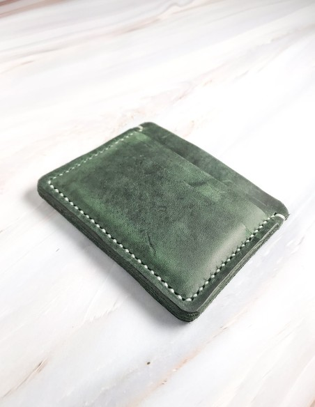 Handmade & Hand Stitched Minimalists Leather Card Wallet