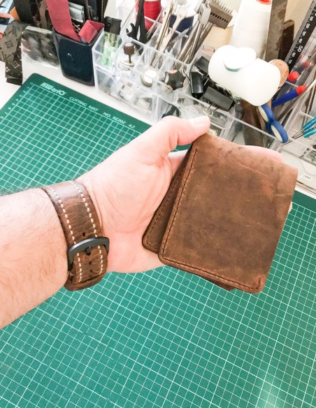 Handmade & Hand Stitched Minimalist Leather Wallet