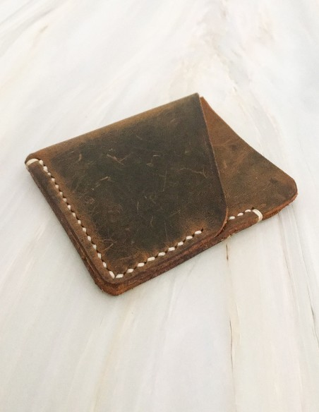 Minimalist Leather Slim Pocket Credit Card Holder