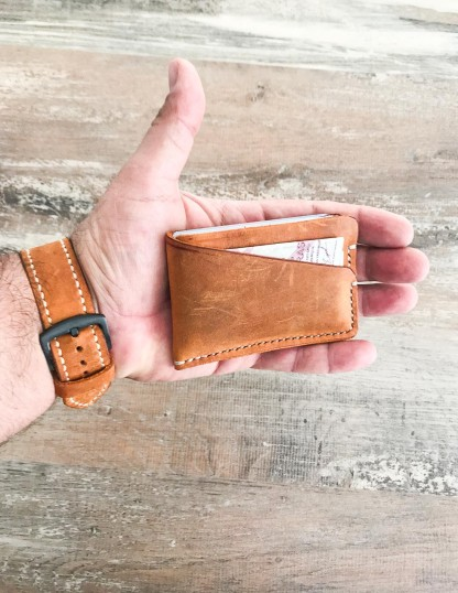 Minimalist Leather Thin Wallet Pocket Card Holder