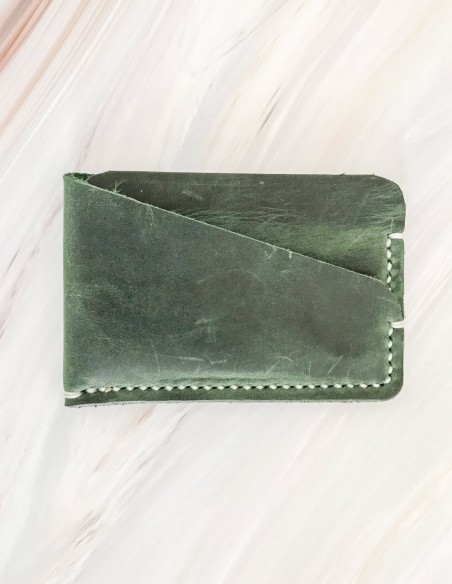 Minimal Leather Pocket Credit Card Holder