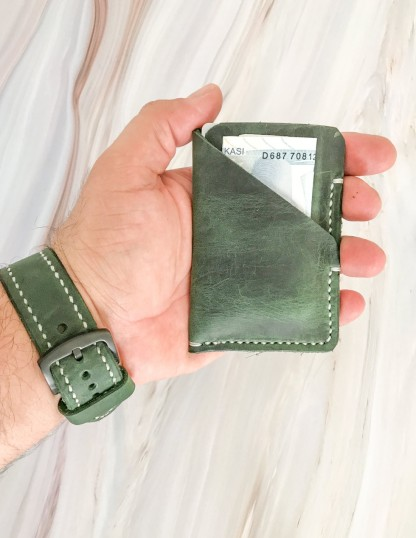 Minimal Leather Pocket Credit Card Holders
