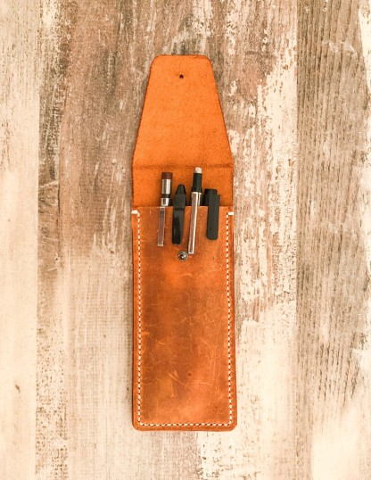 Handmade & Hand Stitched Leather Pen and Pencil Cases