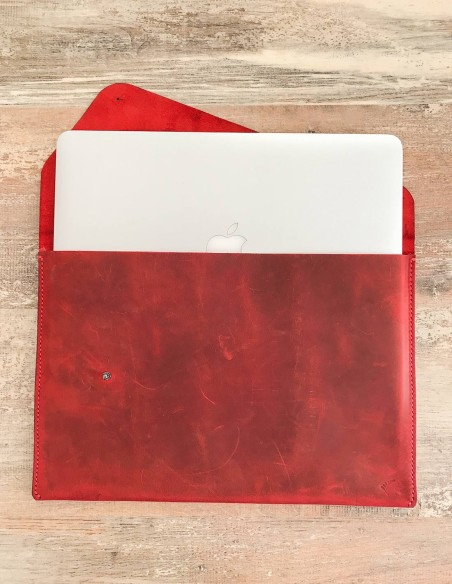 Handmade & Hand Stitched Leather Macbook Case