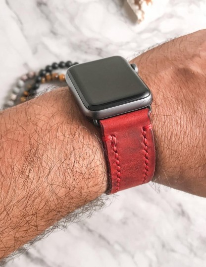Handmade & Hand Stitched Luxury Leather Apple Watch Band
